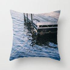 Lake Indigo Throw Pillow