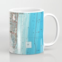 Fort Lauderdale Florida Map (1985) Coffee Mug