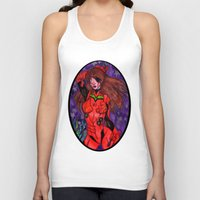 evangelion Tank Tops featuring Asuka from Evangelion by Jazmine Phillips