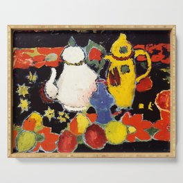 "Alexej von Jawlensky ""Still Life with Yellow Coffee Pot and White Tea Pot"" 1908 Serving Tray"
