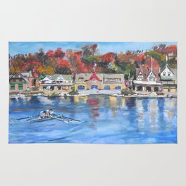 Boathouse Row, Philadelphia Rug