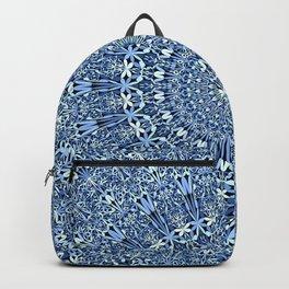 Light Blue Floral Mandala Backpack