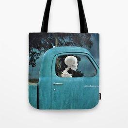 Surreal Studebaker Skeleton Tote Bag