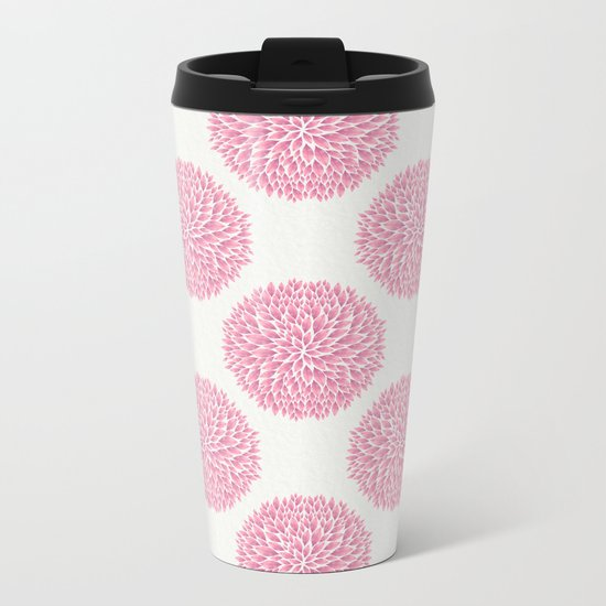 Petal Burst #10 Circles Metal Travel Mug