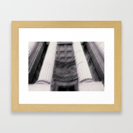Old Montreal Columns Framed Art Print