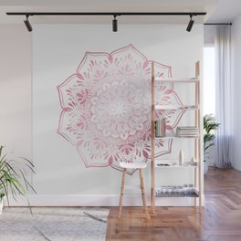 Rose Gold Mandala Indian Inspired Wall Mural