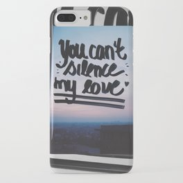 You can't silence my love iPhone Case