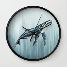 Watercolour Humpback Whale Wall Clock