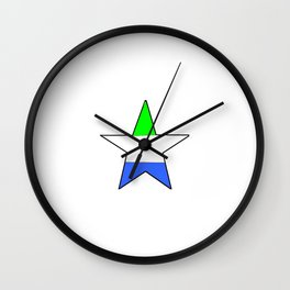 Flag of sierra leone 5 -salone,Sierra Leonean,Leone,Sierra Leona,freetown. Wall Clock