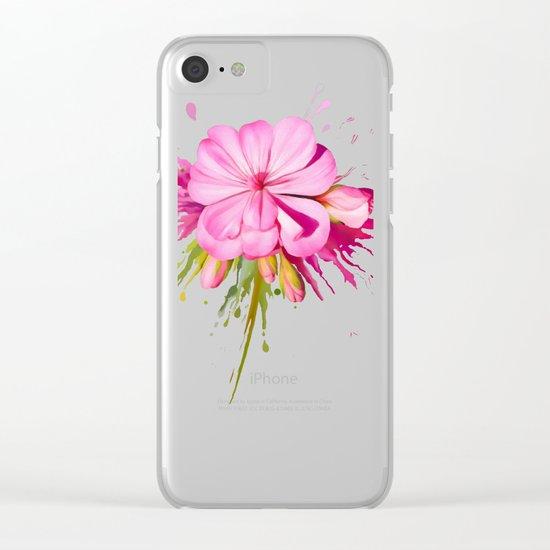 Color Eruption Clear iPhone Case