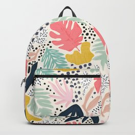 TROPIC COLLAGE ABSTRACT MODERN Backpack