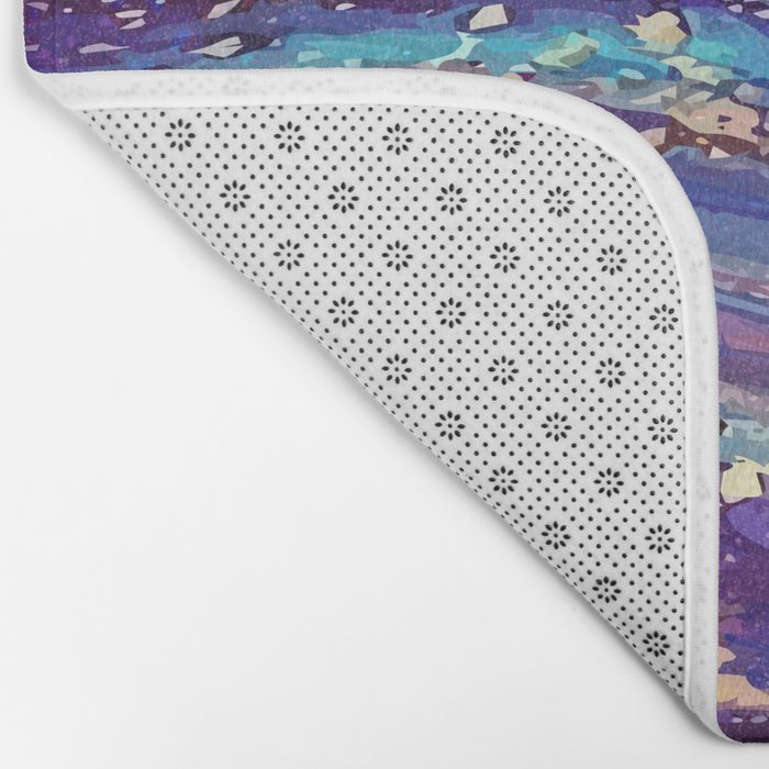 Iridescent Fantasy Abstract Bath Mat