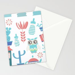 Travel pattern 3vb Stationery Cards