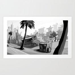Vendors at Echo Park Art Print