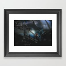 it was cold, but we didn't mind Framed Art Print