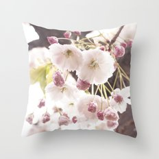 cherry flower tree Throw Pillow