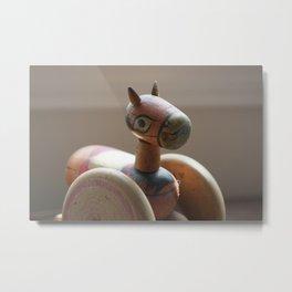 Horse on Wheels Metal Print