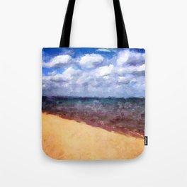 Beach Under Blue Skies Tote Bag