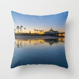 Wet Sand Sunrise Throw Pillow
