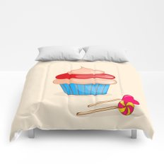 cupcake  with candy Comforters