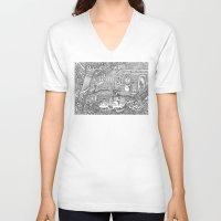 velvet underground V-neck T-shirts featuring Underground by Olya Goloveshkina