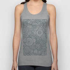 Abstract Floral Pattern Unisex Tank Top