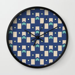 Art Deco Geometric Pattern 272 Wall Clock