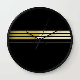TEAM COLORS 5... black and gold Wall Clock