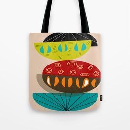 Mid-Century Modern Abstract Half Moons Tote Bag