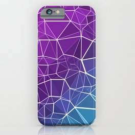 Pink, Purple, and Blue Triangles iPhone Case