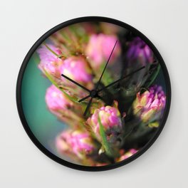 Purple Liatris Wall Clock