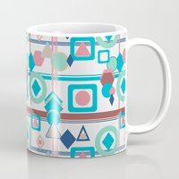 pantone Mugs featuring Geometric Spring Pantone Palette by naturessol