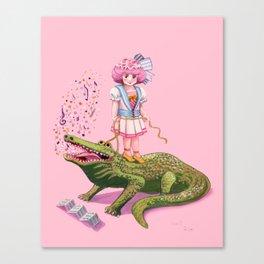 My Pet Crocodile Canvas Print