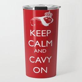 Keep Calm Cavy On Travel Mug