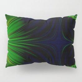 Neon Wind in Green Pillow Sham