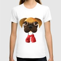 boxer T-shirts featuring Boxer by Sloe Illustrations