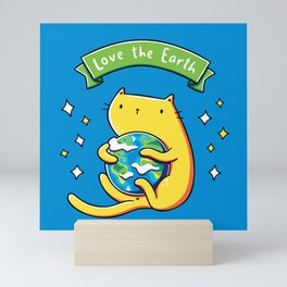 Earth Lover Cat Mini Art Print