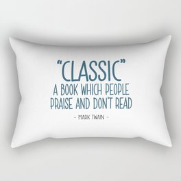 Classic Books Quote - Mark Twain Rectangular Pillow