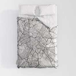 Rome Map White Comforters