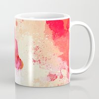buddhism Mugs featuring Red Buddha Watercolor art by Thubakabra