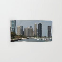 Chicago Shoreline, Skyline, Lake Michigan Hand & Bath Towel
