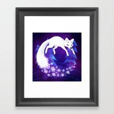 Snow Fox Dream Framed Art Print