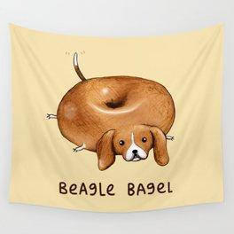 Beagle Bagel Wall Tapestry