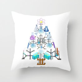 Oh Chemistry, Oh Chemist Tree Throw Pillow