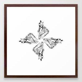 radial turtle Framed Art Print