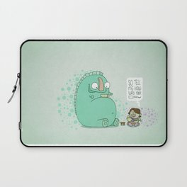 Monster and Tea Laptop Sleeve