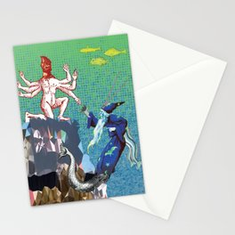 Water Wizard and Monster Man Stationery Cards