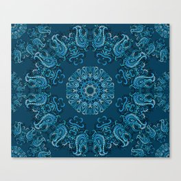 fretyle blue Canvas Print