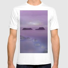 Toward the Offshore Islands White MEDIUM Mens Fitted Tee