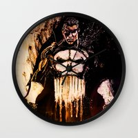 punisher Wall Clocks featuring Punisher by hbCreative